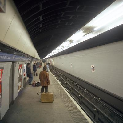 Blackhorse Road Tube Station on the Victoria Line, London, 1974-Michael Walters-Photographic Print