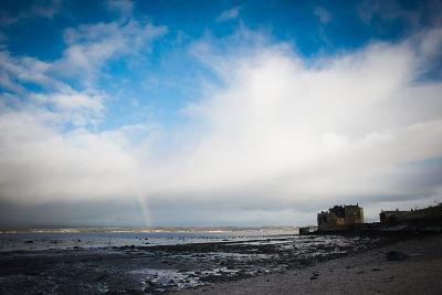 Blackness Castle with Blue Sky and Small Rainbow- Bridge Community Project-Photographic Print