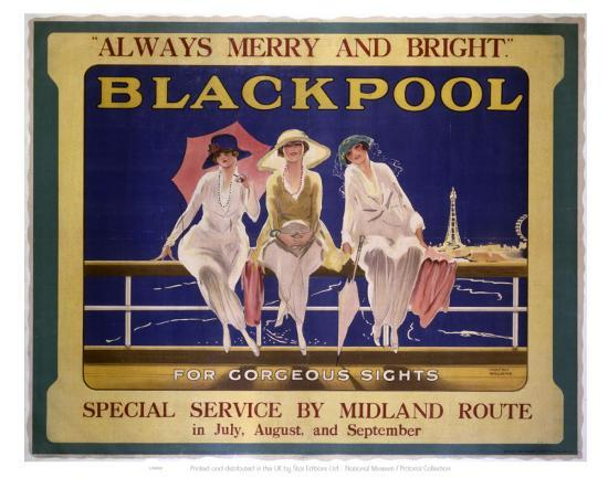 Blackpool Three Ladies--Art Print