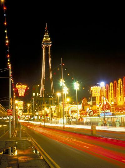 Blackpool Tower and Illuminations, Blackpool, Lancashire, England, United Kingdom-Roy Rainford-Photographic Print