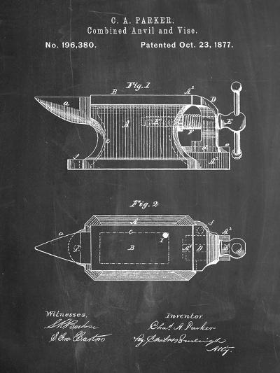 Blacksmith Anvil Patent-Cole Borders-Art Print
