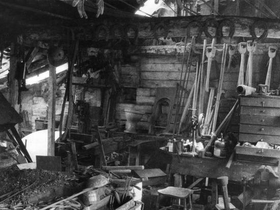 Blacksmith's Interior--Photographic Print