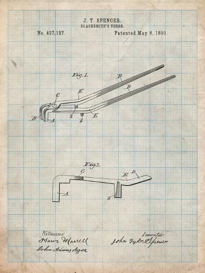 Blacksmith Tongs Patent-Cole Borders-Art Print