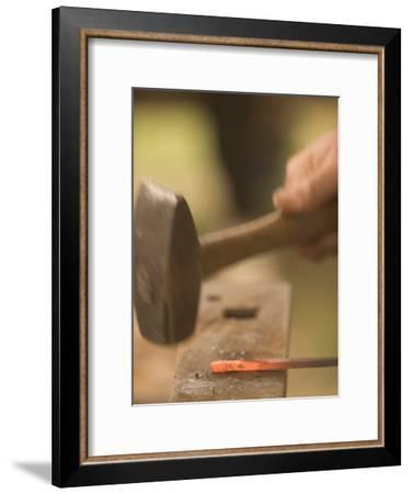 Blacksmith Working at Ft. Union Trading Post National Historic Site-Phil Schermeister-Framed Photographic Print