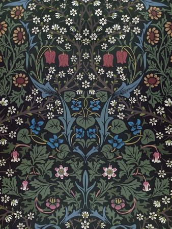 Blackthorn, Wallpaper Design, 1892-William Morris-Premium Giclee Print