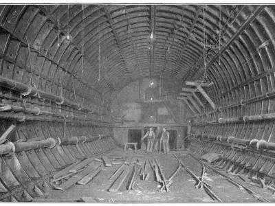 Blackwall Tunnel Interior of the Tunnel During Construction--Photographic Print