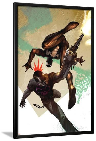 Blade No.10 Cover: Blade and Spider-Man--Lamina Framed Poster