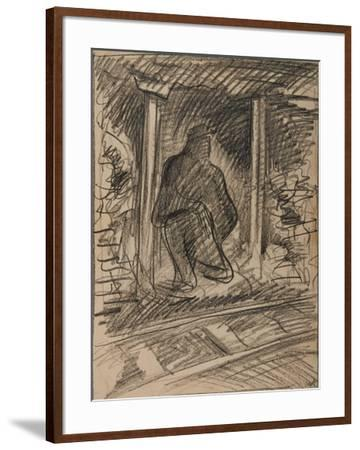 Blaencwm Level, Waiting for the Train to Pass-Isabel Alexander-Framed Giclee Print