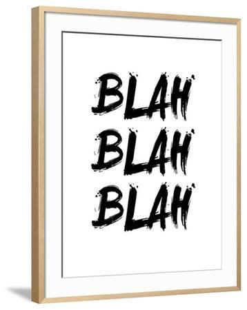 Blah Blah Blah White-NaxArt-Framed Art Print