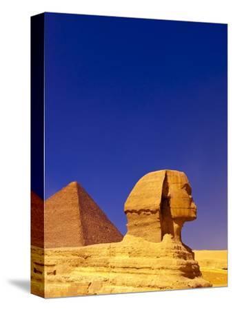 Great Sphinx and Pyramids at Giza