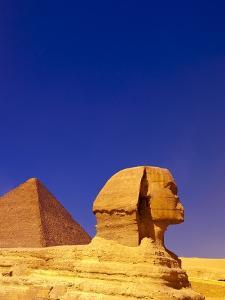 Great Sphinx and Pyramids at Giza by Blaine Harrington