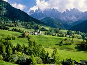 Santa Maddalena church in the Dolomites Mountains by Blaine Harrington