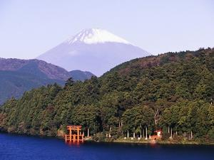 Shinto Shrine on Shore of Lake Ashi by Blaine Harrington