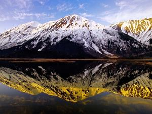 View of mountains from road between Anchorage and Seward by Blaine Harrington