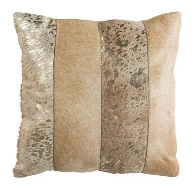 "Blair Metallic Cowhide 20""X20"" Pillow"