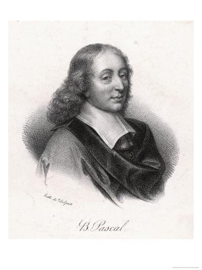 Blaise Pascal French Philosopher- Delpech-Giclee Print