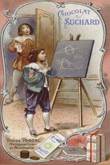 Blaise Pascal, French Physicist and Mathematician, as a Child--Giclee Print