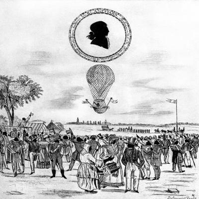 Blanchard's Balloon, 1790--Giclee Print