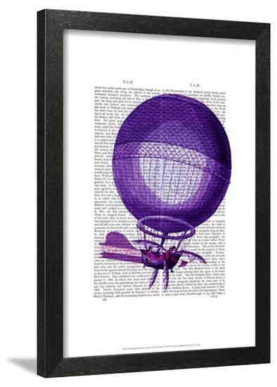 Blanchards Hydrogen (Purple) Hot Air Balloon-Fab Funky-Framed Art Print