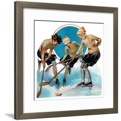 """Girls Playing Ice Hockey,""February 23, 1929"