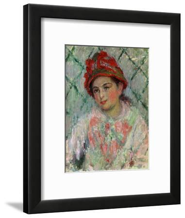 Blanche Hoschede (1865-1947), youngest daughter of Mme. Hoschede, Monet's second wife. Canvas,1880-Claude Monet-Framed Giclee Print