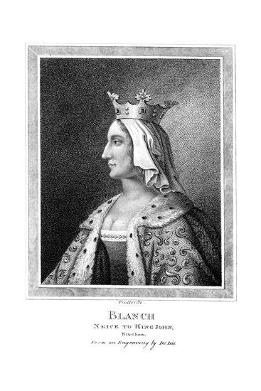 Blanche of Castile (1188-125), Niece to King John-Thomas Trotter-Giclee Print