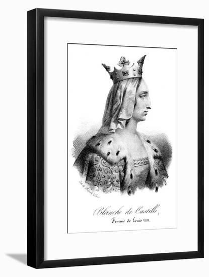 Blanche of Castile, Wife of Louis VIII of France- Delpech-Framed Giclee Print