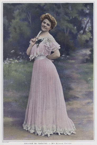 Blanche Toutain, French Actress--Photographic Print