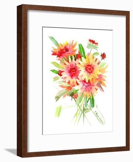 Blanket Flowers-Suren Nersisyan-Framed Art Print