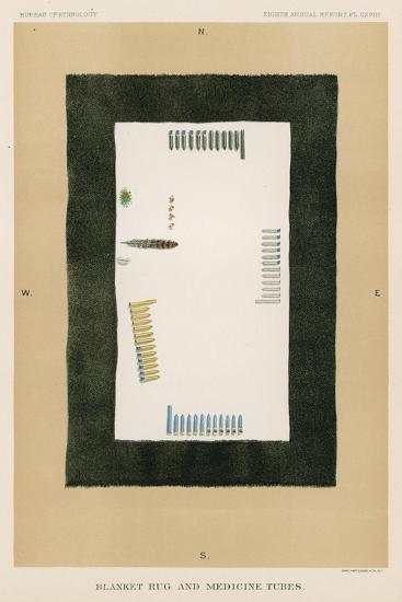 Blanket Rug and Medicine Tubes--Giclee Print