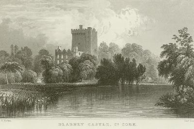 Blarney Castle in County Cork-William Henry Bartlett-Giclee Print