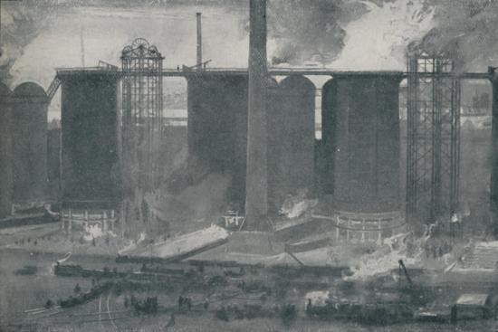 'Blast-Furnaces at Bell Bros.' Iron Works, Middlesborough', 1910-Unknown-Giclee Print