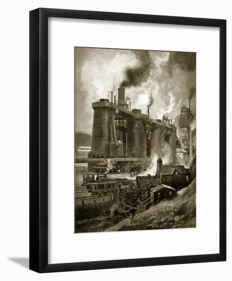 Blast Furnaces of the Period-Charles John De Lacy-Framed Giclee Print