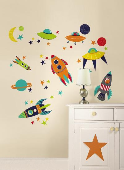 Blast Off Wall Art Decal Kit--Wall Decal