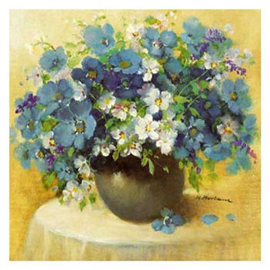 Blaue Blumen Serie-R^ Bertram-Art Print