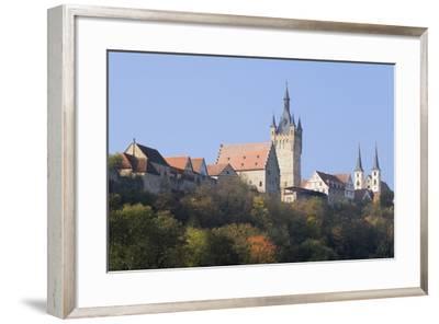 Blauer Turm Tower and St. Peter Collegiate Church, Bad Wimpfen, Neckartal Valley-Marcus Lange-Framed Photographic Print