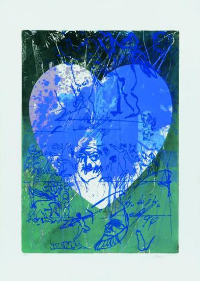Blaues Herz-Hassan Hashemi-Limited Edition