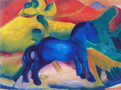 Blaues Pferdchen-Franz Marc-Art Print