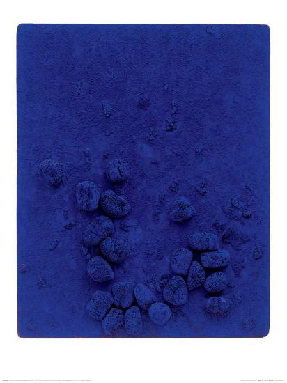 Blaues Schwammrelief (Relief Éponge Bleu: RE19), 1958-Yves Klein-Art Print