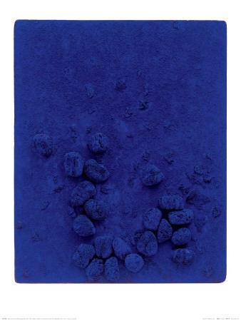 blaues schwammrelief relief ponge bleu re19 1958 art. Black Bedroom Furniture Sets. Home Design Ideas