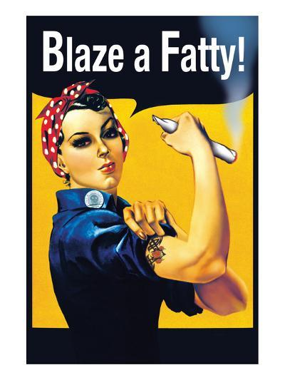 Blaze a Fatty--Art Print
