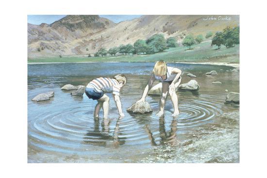 Blea Tarn Summer, 1987-John Cooke-Giclee Print