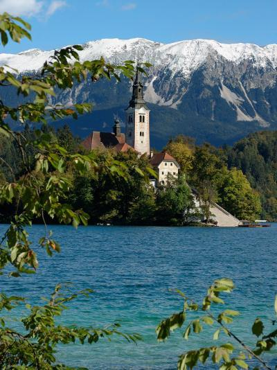 Bled Island and Julian Alps, Lake Bled, Slovenia-Lisa S^ Engelbrecht-Photographic Print