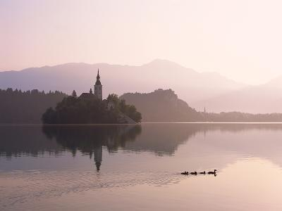 Bled Island and Lake Bled--Photographic Print