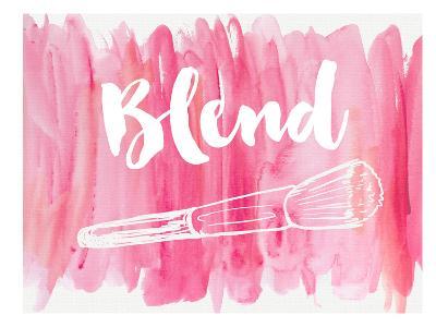 Blend-Peach & Gold-Art Print