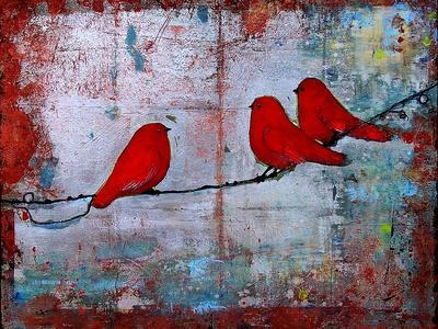 Art Bird Print Let it Be
