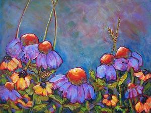 Blue Sky Coneflowers by Blenda Tyvoll