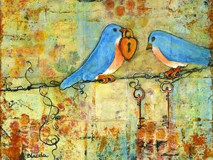 Key to My Heart Birds on a Wire by Blenda Tyvoll