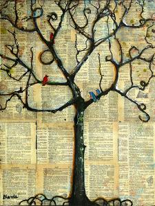 Print Tree of Life Mixed Media Painting by Blenda Tyvoll
