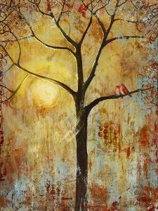 Red Birds Tree Tree of Life Wall Decor Print by Blenda Tyvoll